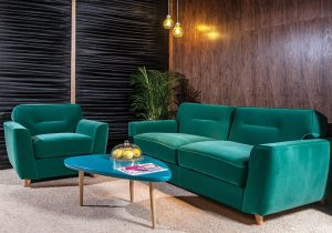 Canapea extensibilă cu saltea relaxa inclusă