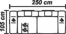 Canapea Bucovina 3 locuri extensibilă