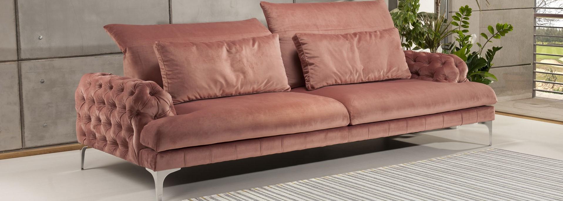 Canapea Galla Chester roz