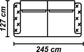 Canapea Galla Mustar