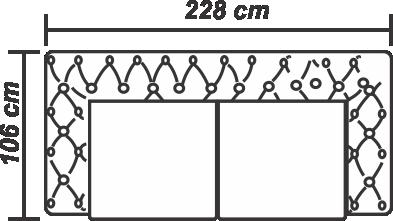 Canapea London Chesterfield 3 locuri extensibilă