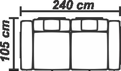 Canapea Pannonia 3 locuri extensibilă