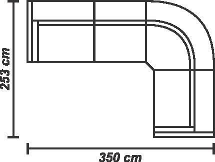 Colțar Britannia dreapta extensibil