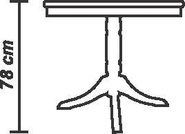 Masă Nisa 80 cm